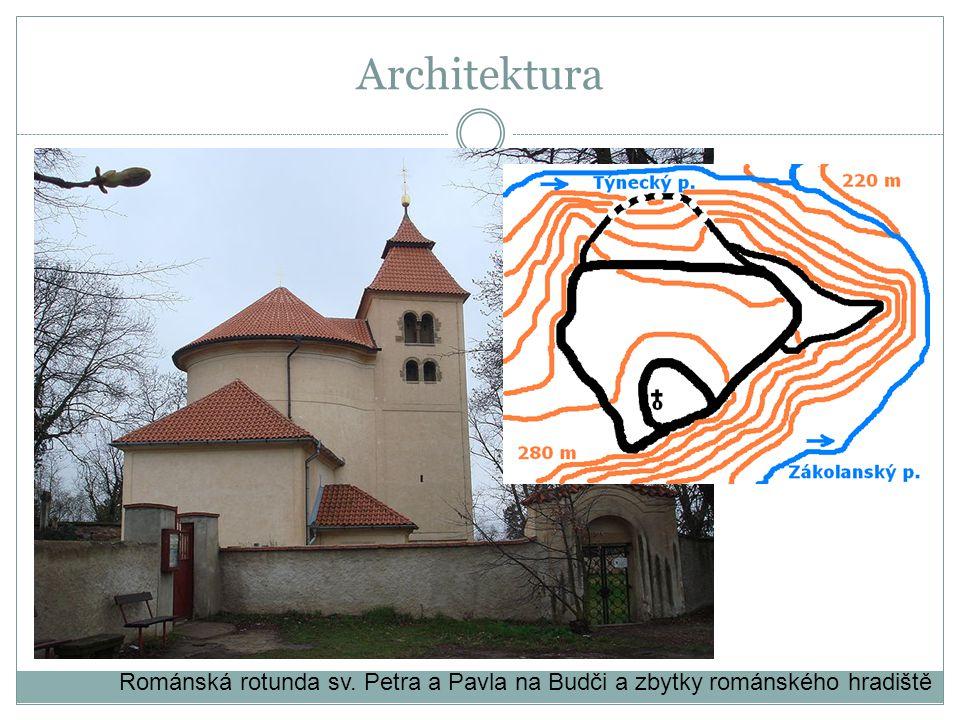 Architektura Románská rotunda sv. Petra a Pavla na Budči a zbytky románského hradiště