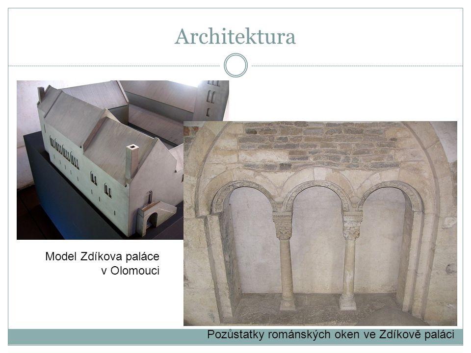 Architektura Model Zdíkova paláce v Olomouci