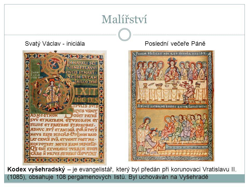 Malířství Svatý Václav - iniciála Poslední večeře Páně