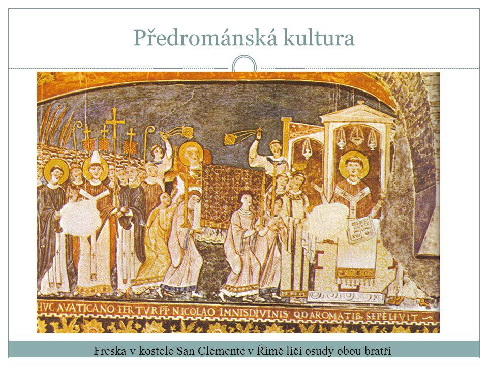 Freska v kostele San Clemente v Římě líčí osudy obou bratří