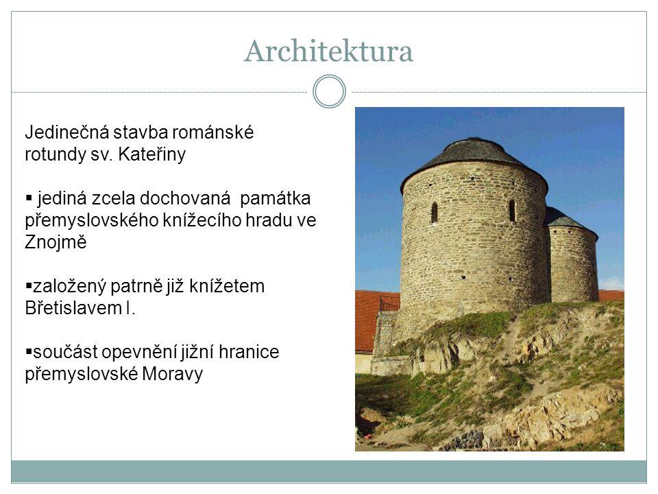 Architektura Jedinečná stavba románské rotundy sv. Kateřiny