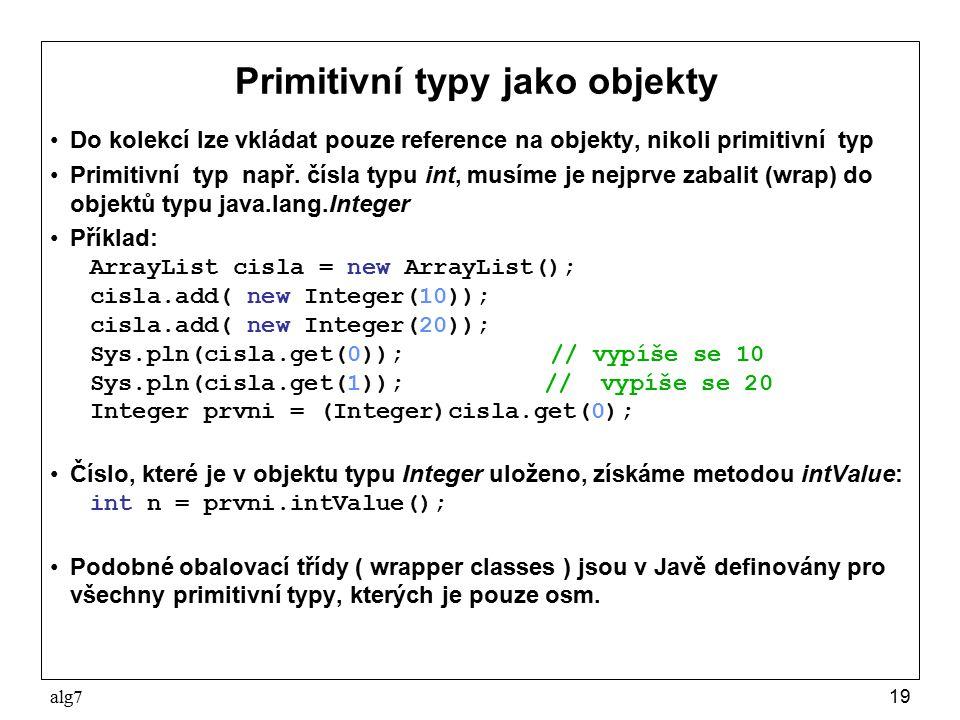Primitivní typy jako objekty