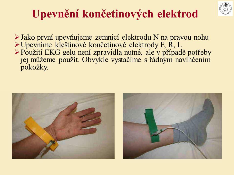 Upevnění končetinových elektrod