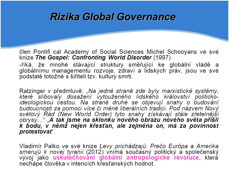 Rizika Global Governance