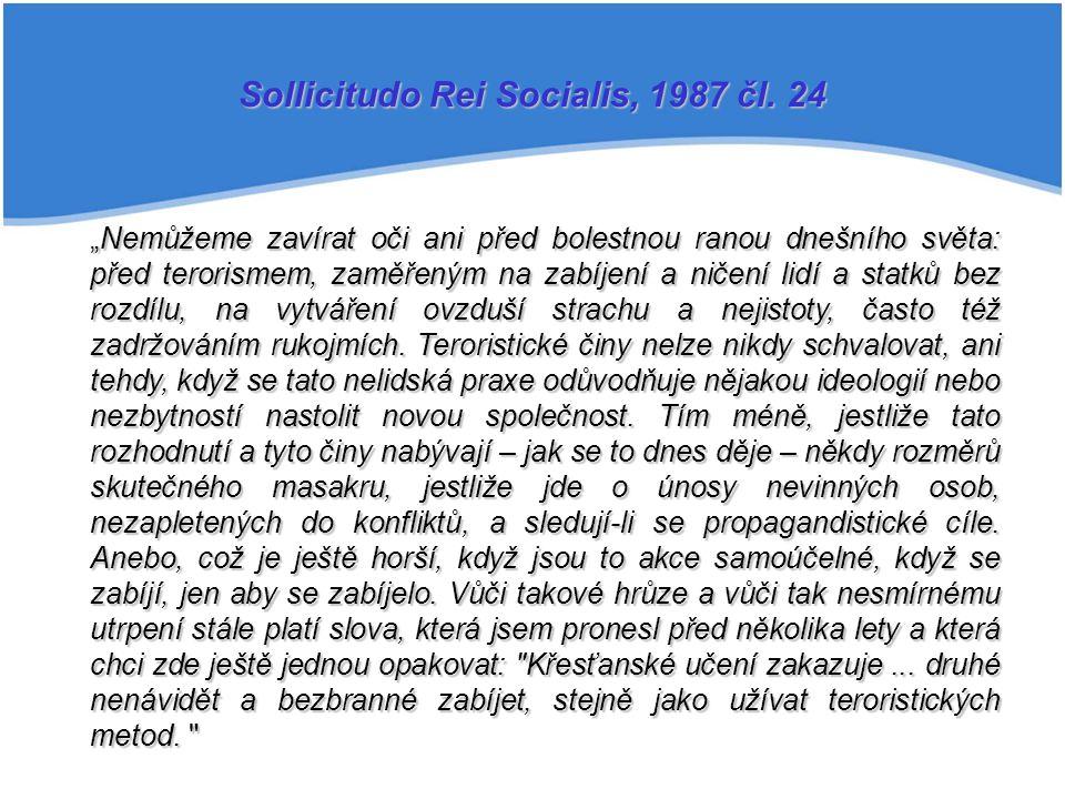 Sollicitudo Rei Socialis, 1987 čl. 24