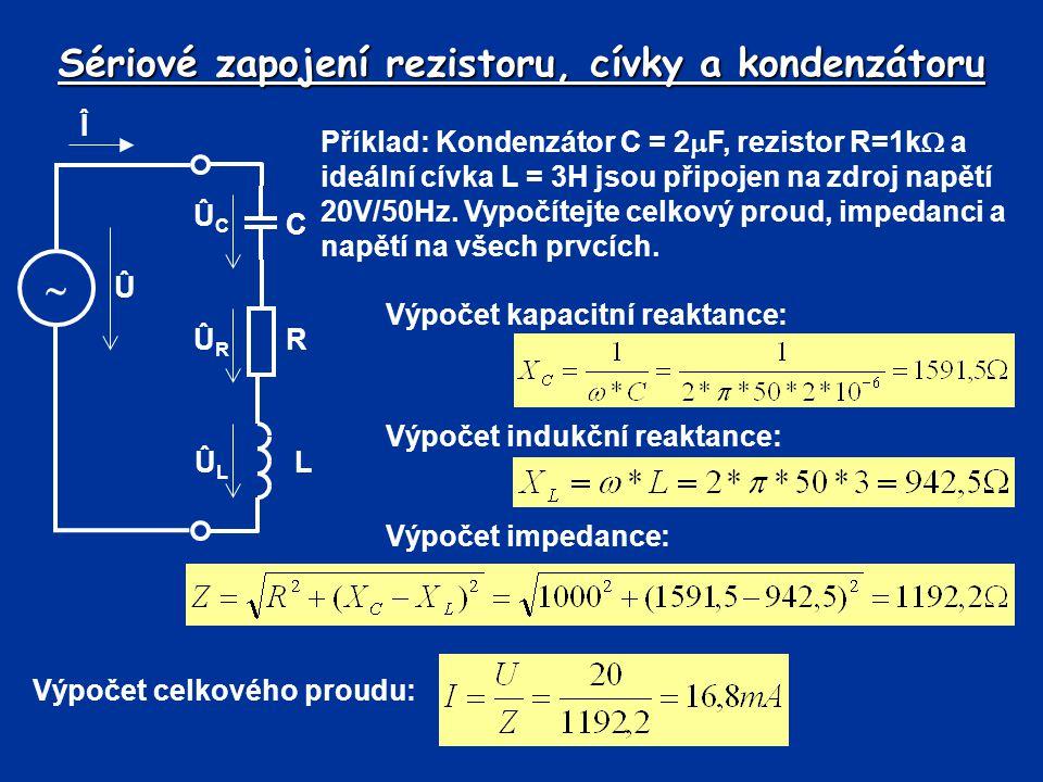 Sériové zapojení rezistoru, cívky a kondenzátoru