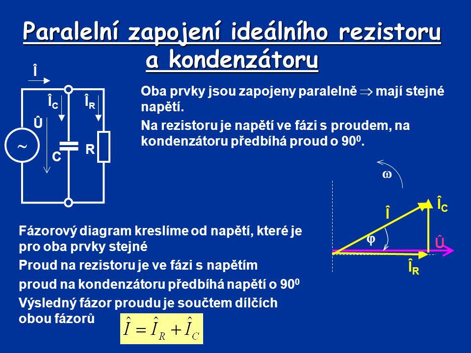 Paralelní zapojení ideálního rezistoru a kondenzátoru
