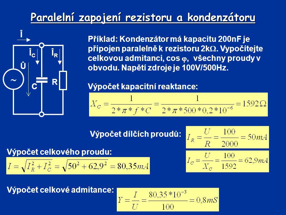 Paralelní zapojení rezistoru a kondenzátoru