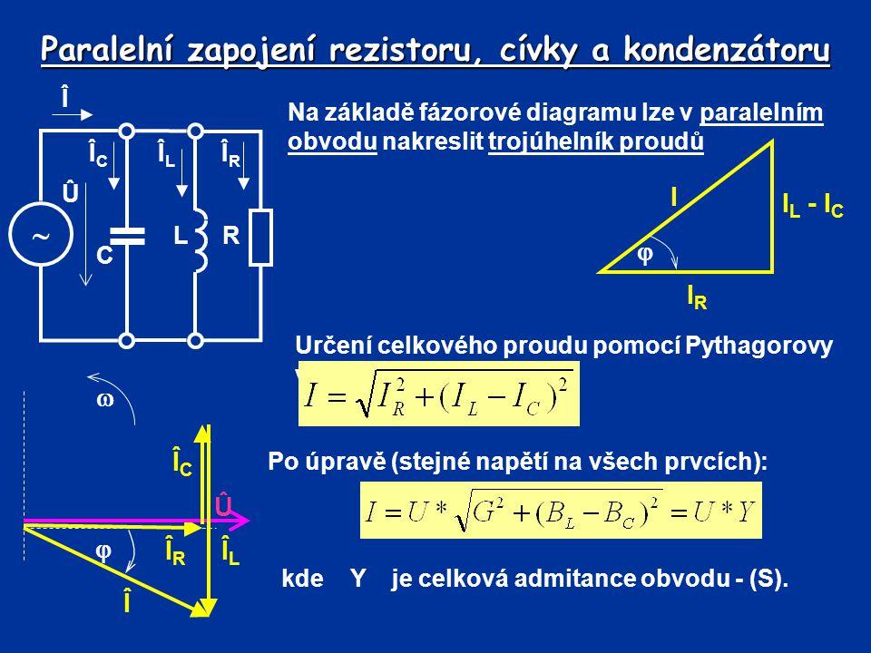 Paralelní zapojení rezistoru, cívky a kondenzátoru