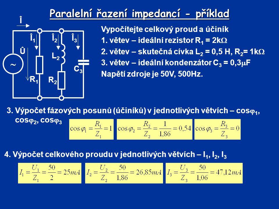 Paralelní řazení impedancí - příklad