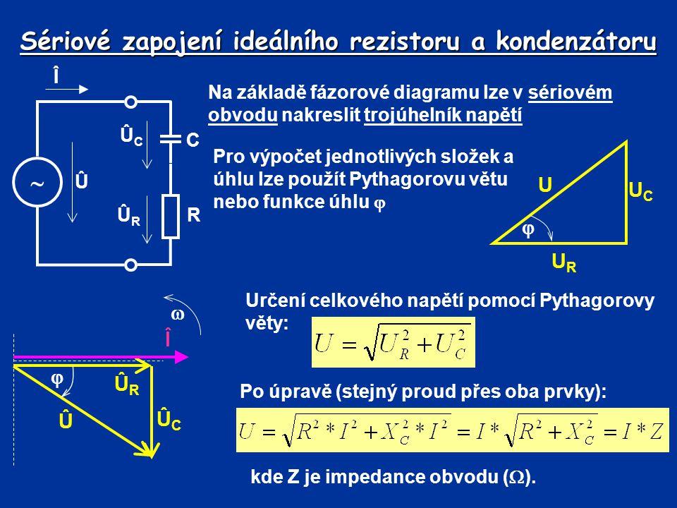 Sériové zapojení ideálního rezistoru a kondenzátoru