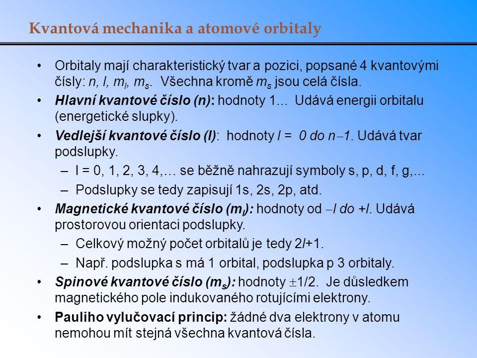 Kvantová mechanika a atomové orbitaly