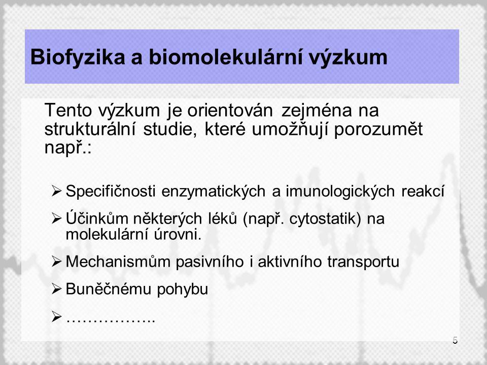 Biofyzika a biomolekulární výzkum