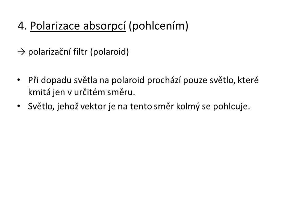 4. Polarizace absorpcí (pohlcením)