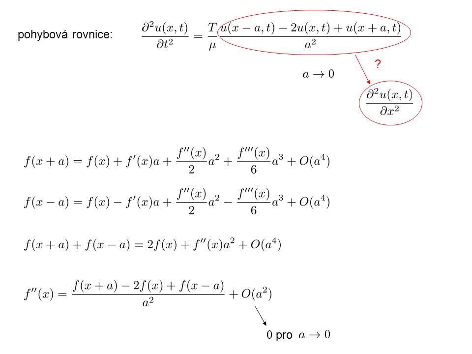 pohybová rovnice: 0 pro