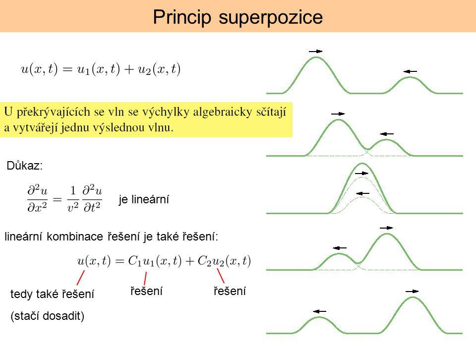 Princip superpozice Důkaz: je lineární