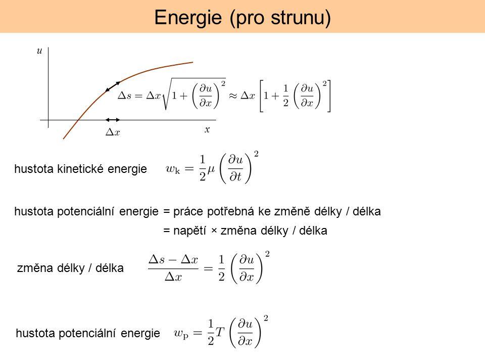 Energie (pro strunu) hustota kinetické energie