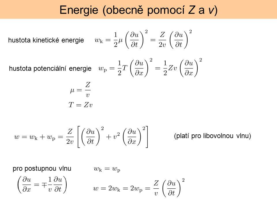 Energie (obecně pomocí Z a v)