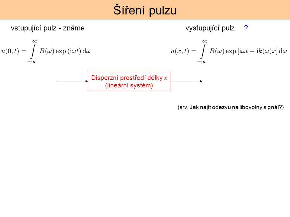 Disperzní prostředí délky x (lineární systém)