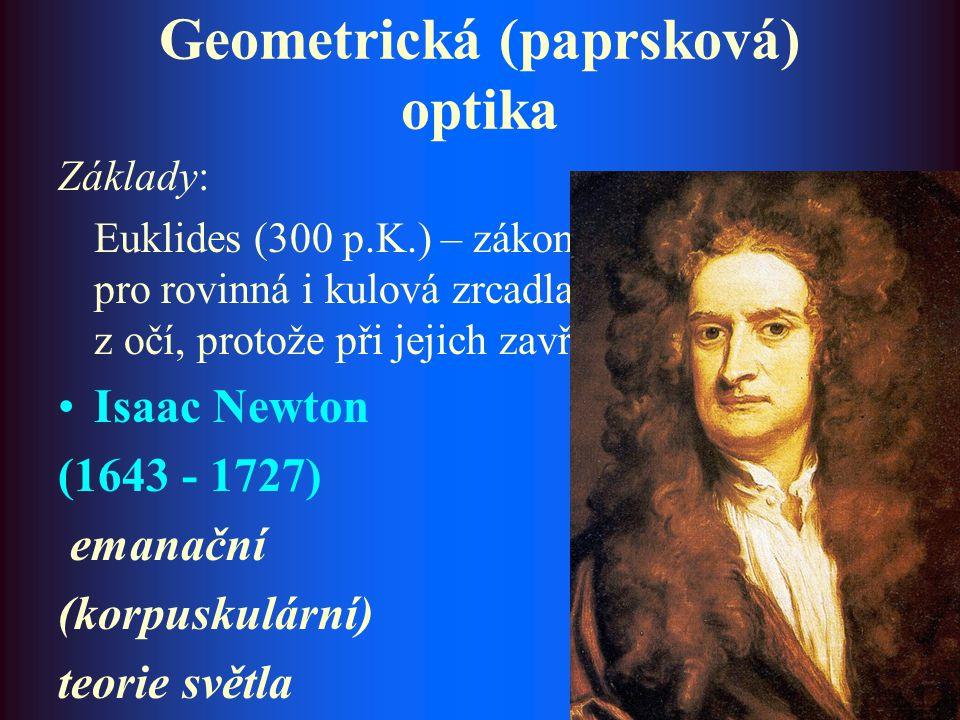 Geometrická (paprsková) optika