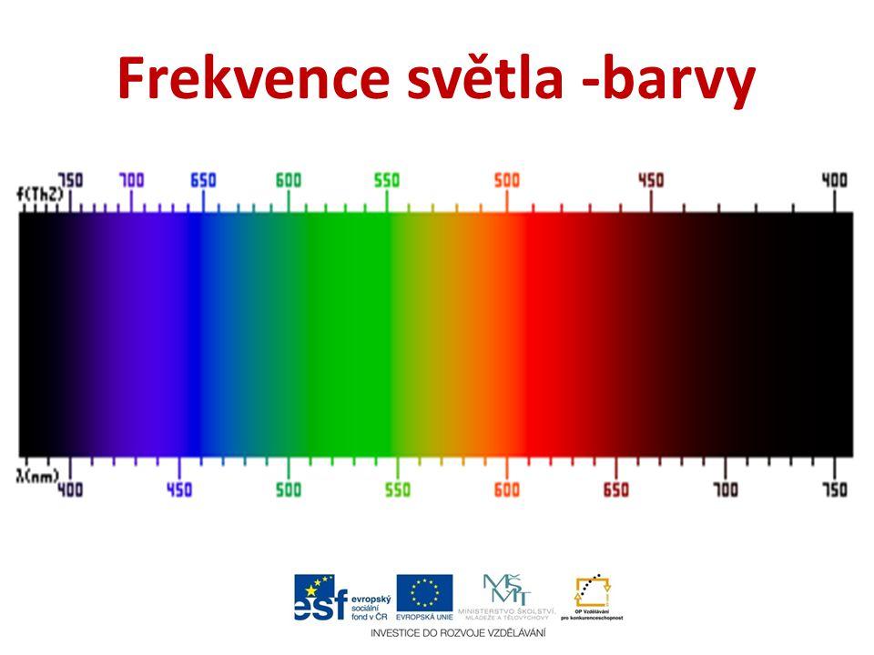 Frekvence světla -barvy