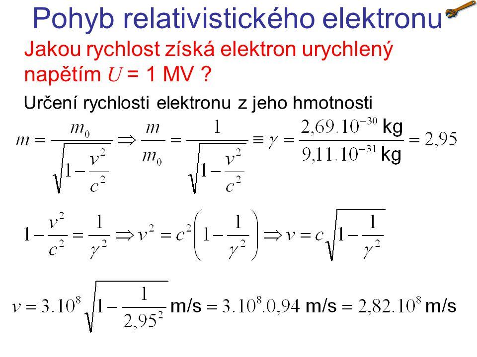 Pohyb relativistického elektronu