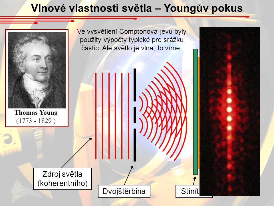 Vlnové vlastnosti světla – Youngův pokus