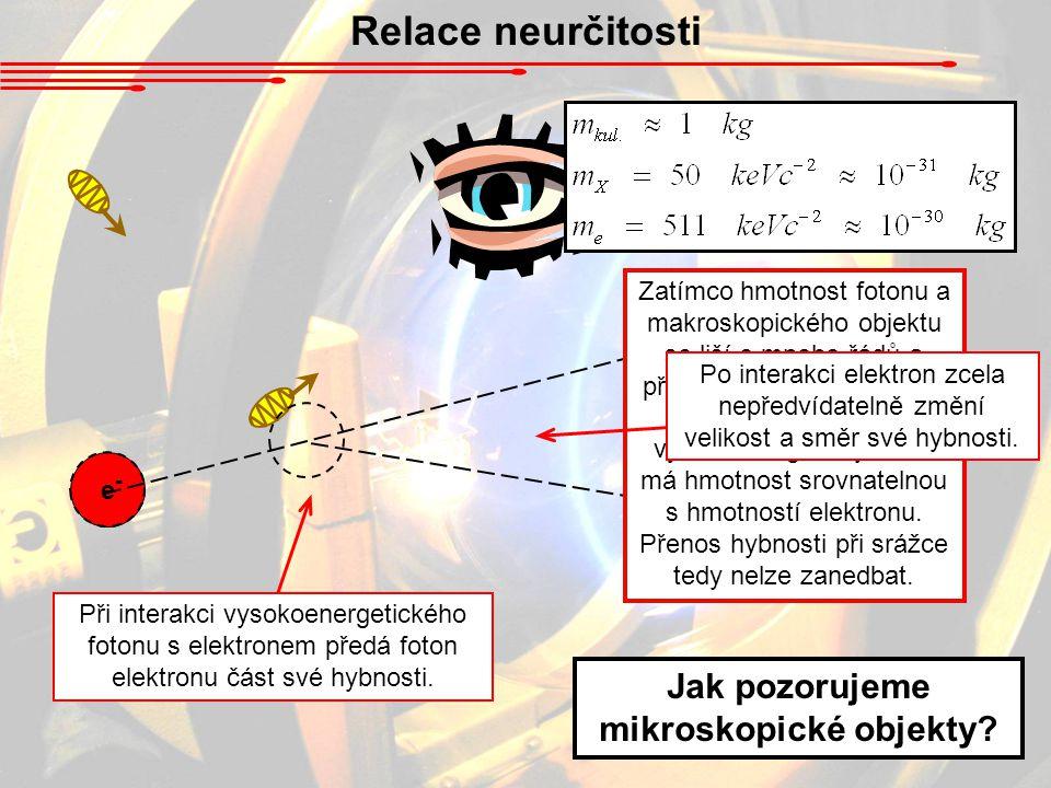 Jak pozorujeme mikroskopické objekty