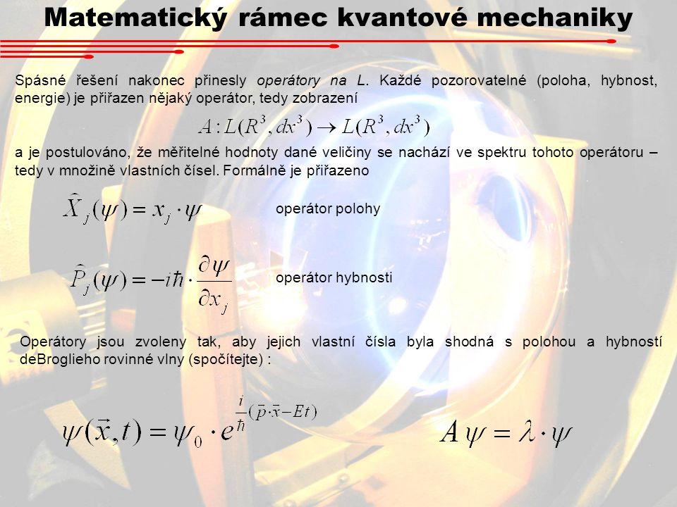 Matematický rámec kvantové mechaniky