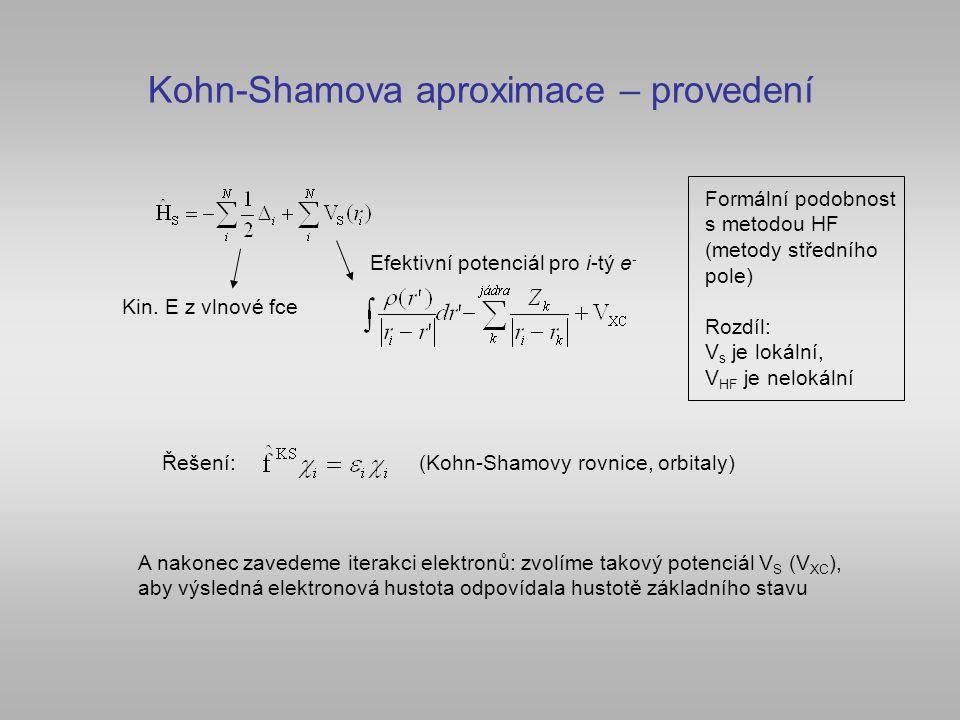 Kohn-Shamova aproximace – provedení