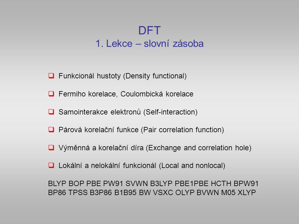 DFT 1. Lekce – slovní zásoba
