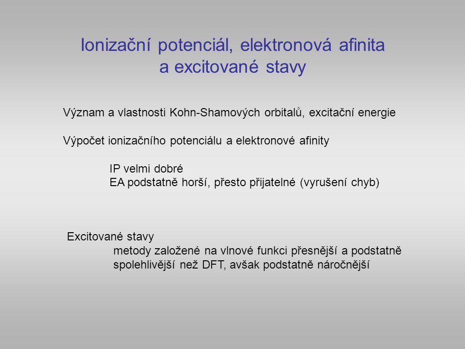 Ionizační potenciál, elektronová afinita a excitované stavy