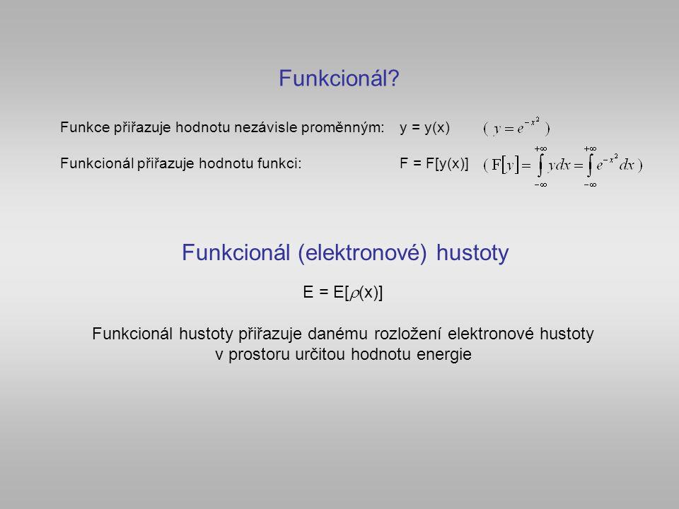 Funkcionál (elektronové) hustoty