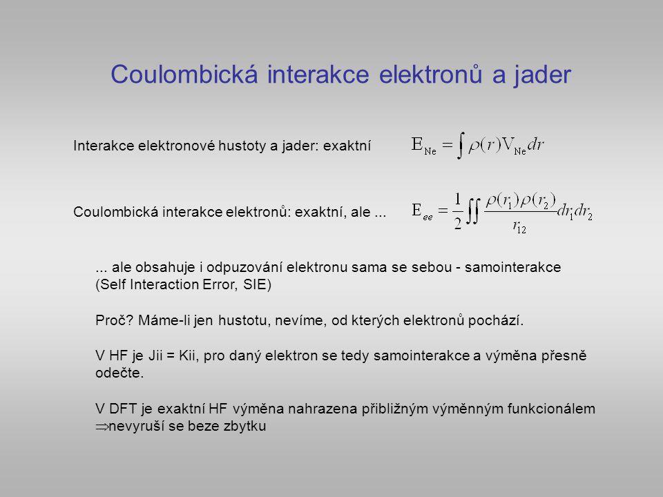 Coulombická interakce elektronů a jader