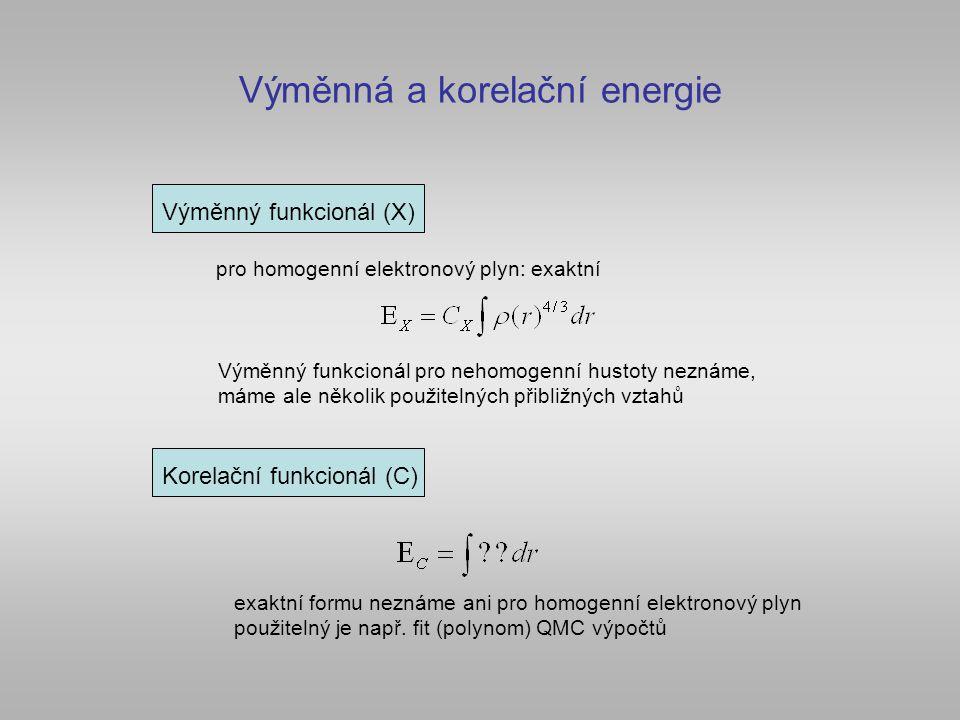Výměnná a korelační energie