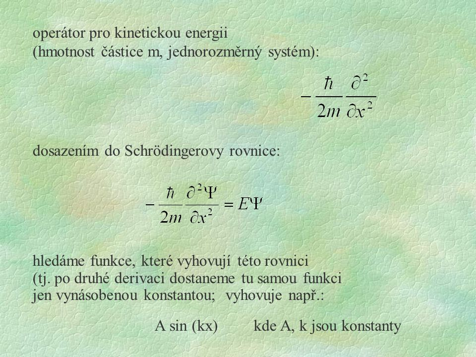 operátor pro kinetickou energii