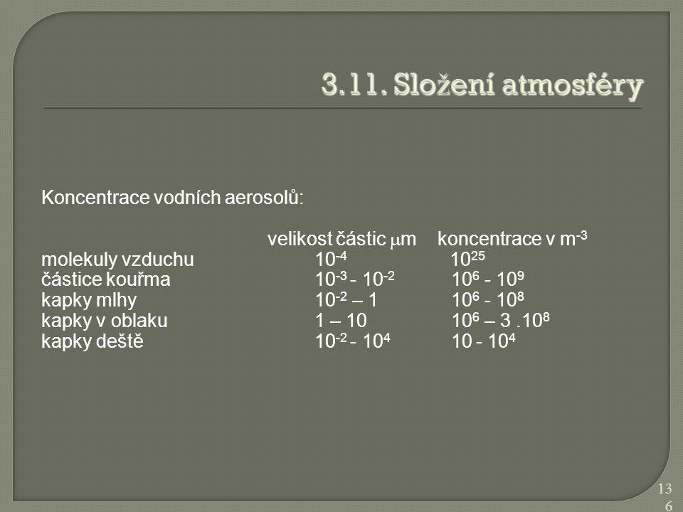 3.11. Složení atmosféry