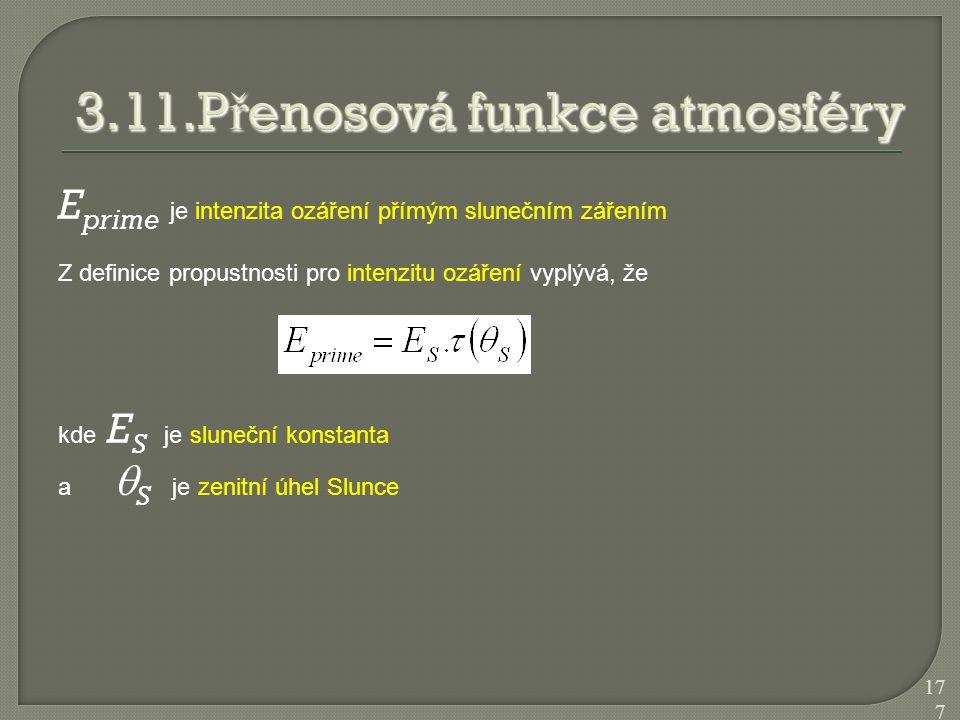3.11.Přenosová funkce atmosféry