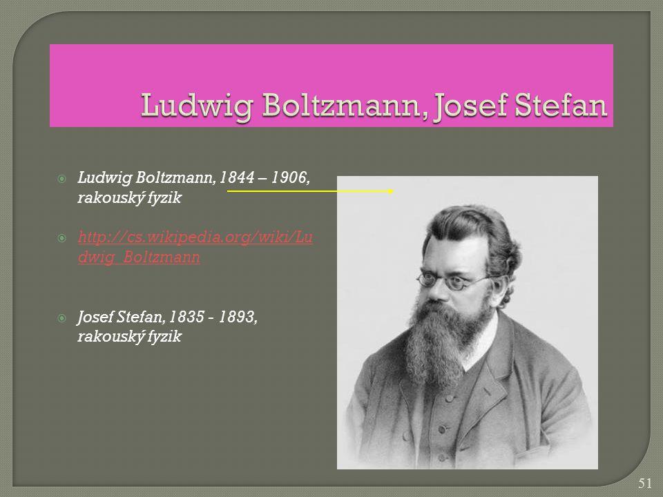Ludwig Boltzmann, Josef Stefan
