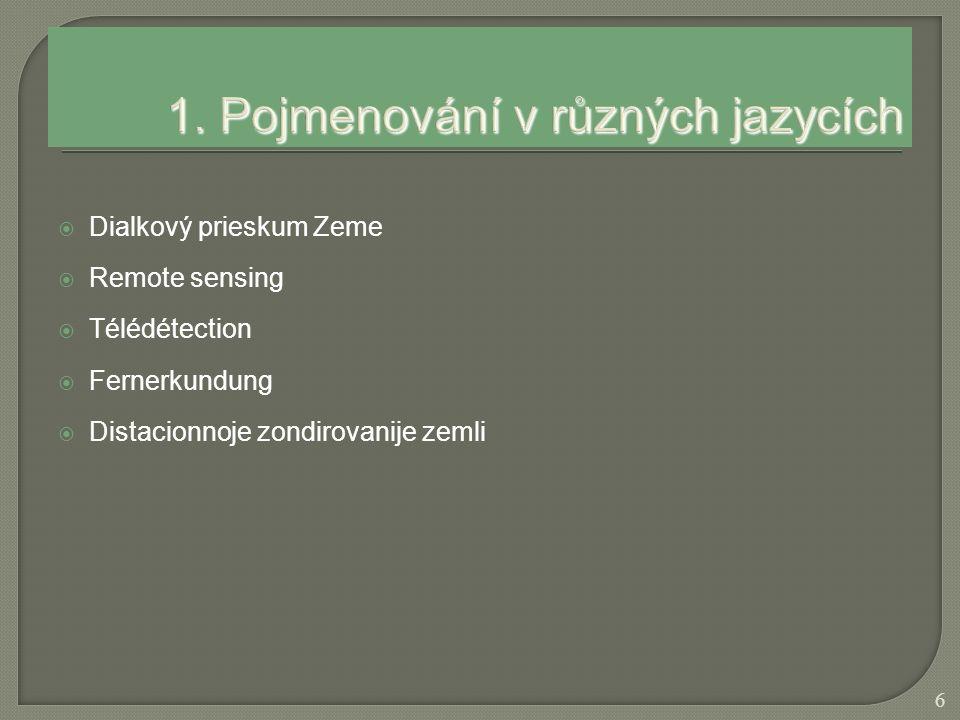 1. Pojmenování v různých jazycích