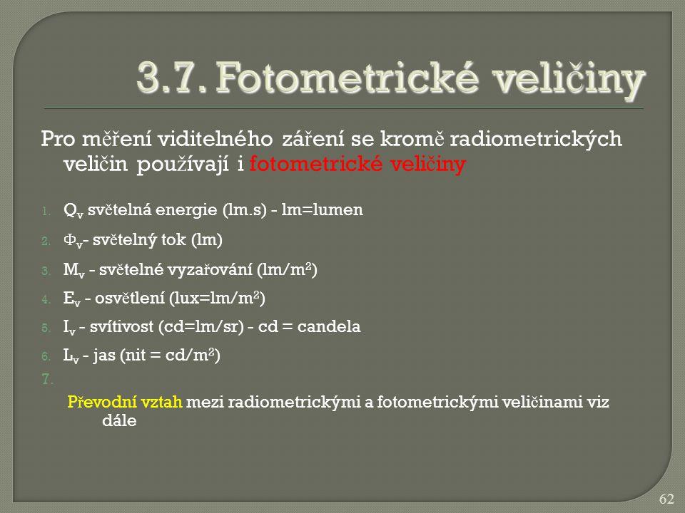 3.7. Fotometrické veličiny