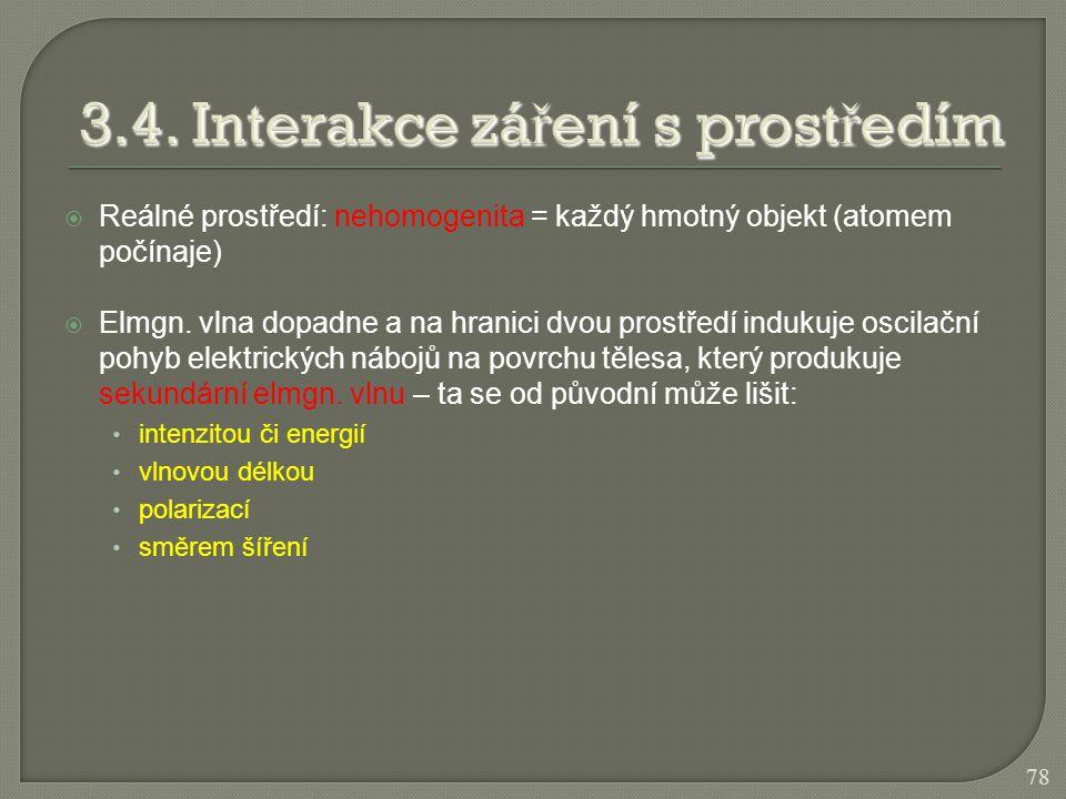 3.4. Interakce záření s prostředím