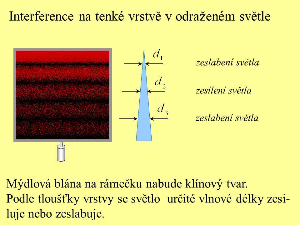 Interference na tenké vrstvě v odraženém světle