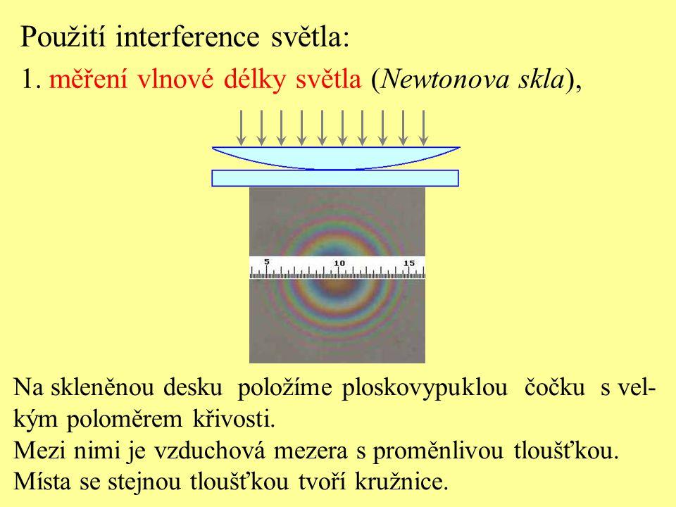 Použití interference světla: