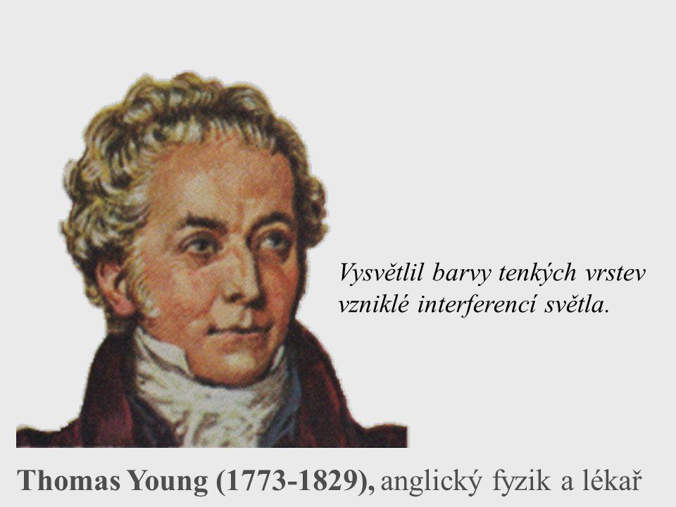 Thomas Young (1773-1829), anglický fyzik a lékař