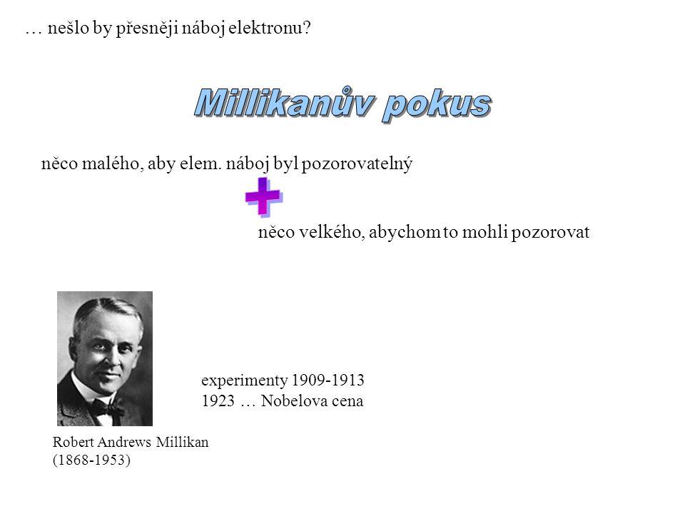 + Millikanův pokus … nešlo by přesněji náboj elektronu