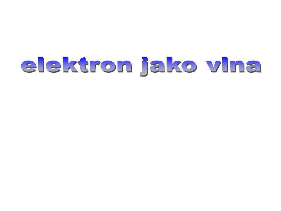 elektron jako vlna