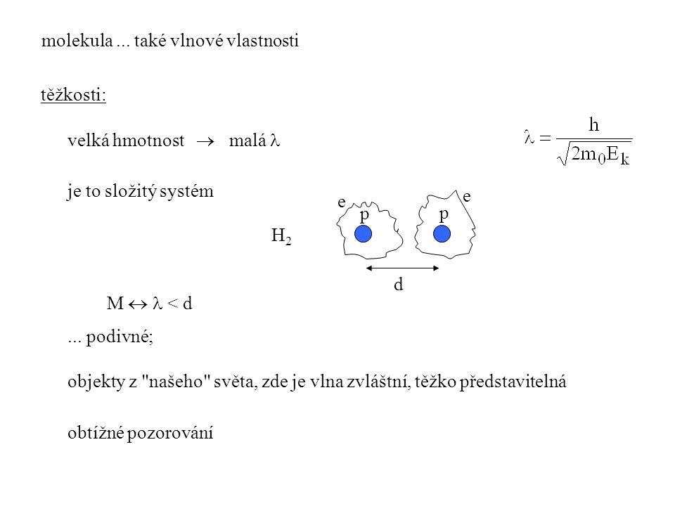 molekula ... také vlnové vlastnosti