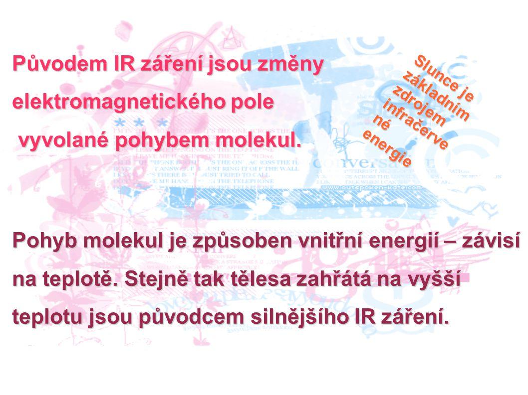 Původem IR záření jsou změny elektromagnetického pole