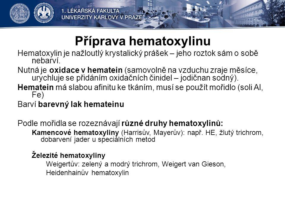 Příprava hematoxylinu